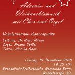 dieses Bild zeigt ein Konzertplakat des Kontrapunkt Bonn